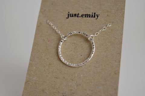 Faceted Circle Necklace