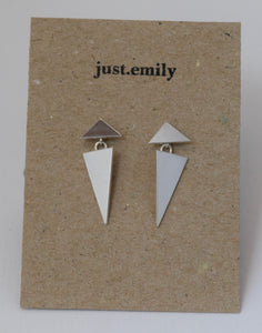Double Triangle Drop Earrings
