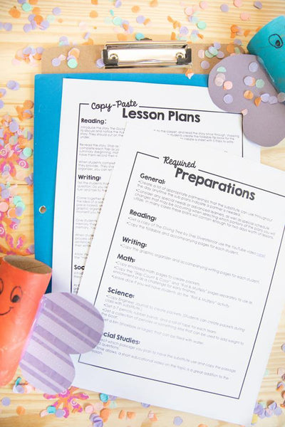 3rd & 4th Grade Sub Plan Bundle