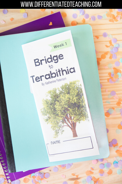 Bridge to Terabithia Novel Study