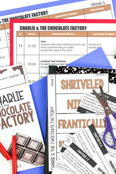 Charlie & the Chocolate Factory Novel Study