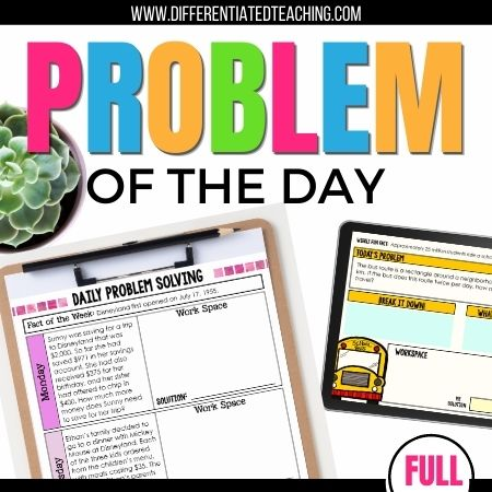 Daily Problem Solving: A Full Year of No-Prep Word Problem Practice