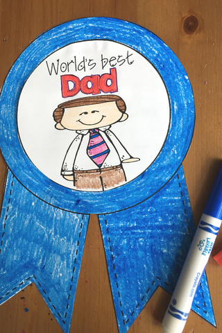 Fathers Day Writing Craft for Kids