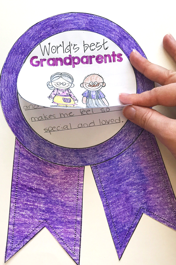 Grandparents Day Writing Craft for Kids