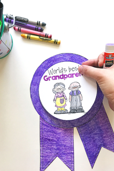 World's Best Grandparent - A Grandparents Day Writing Craft
