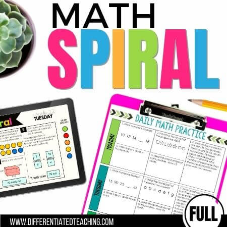 Math Spiral Review: A Full Year of No-Prep Daily Math Practice