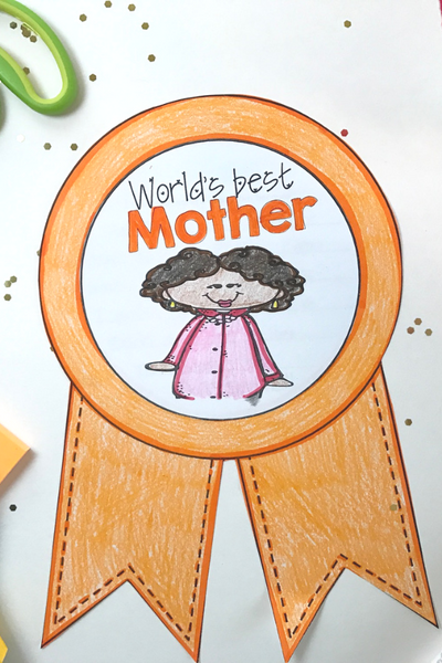 Writing activity for mothers day for elementary students