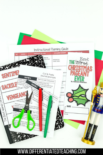 The Best Christmas Pageant Ever Novel Study - Differentiated Teaching with Rebecca Davies