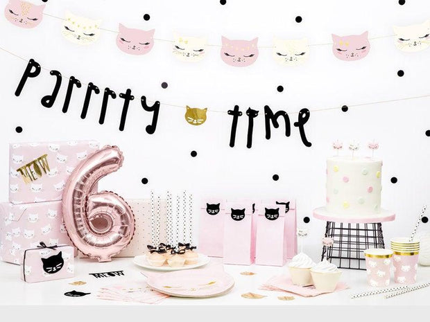 Cat Birthday Candles - Kitten Birthday Cake Candles - Kits Cat White