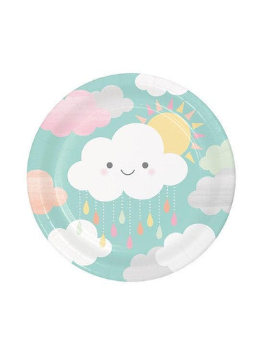 Cloud & Sunshine Paper Plates - Pack of 8 - Sunshine Baby Showers