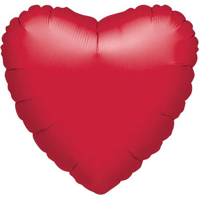 "Red Heart Shaped 18"" Foil Helium Balloon"