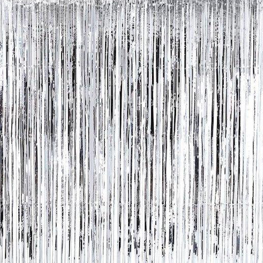 Silver Door Fringe Curtain