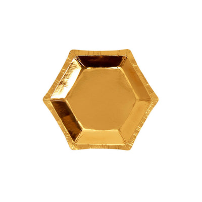Gold Foiled Canapé Plates - Pack of 8
