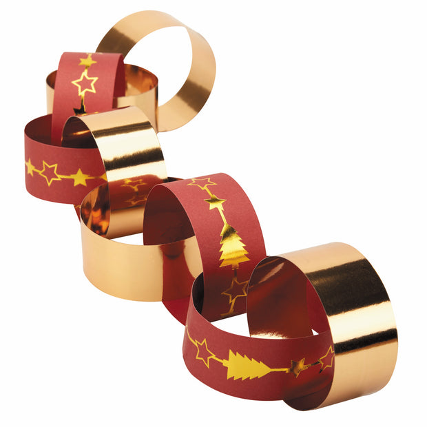 Christmas Red & Gold Paper Chains - Dazzling Christmas