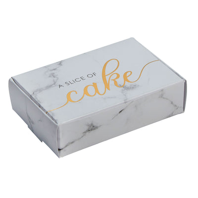 Marble & Gold Cake Boxes - Pack of 10 - Scripted Marble