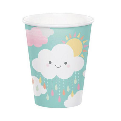 Cloud and sunshine paper cups - Paper cups - Baby shower cups - Birthday cups - Party decorations - Party tableware - Party supplies -8 cups
