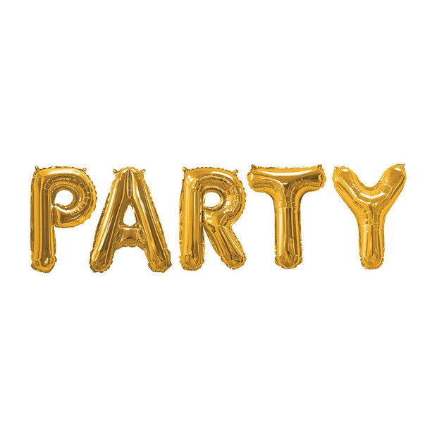 Gold Party balloon bunting - Birthday party balloon bunting - Gold balloons - Party decorations - Birthday party backdrop - Gold party decor
