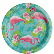 Flamingo paper plates - Flamingo party plates - Tropical party plates - Birthday paper plates - Party decorations - Party tableware - 8 pack