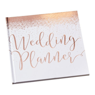 Rose gold wedding planner - Rose gold and white wedding planning book - Bride to be gift - Engagement gift-Rose gold foil-Beautiful Botanics
