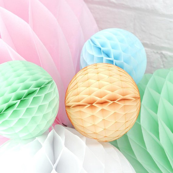 Mint honeycomb - Mint green paper honeycomb decoration - Party decorations -Birthday decorations-Baby shower decorations-Hen party decor-x1