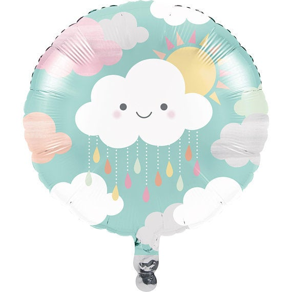 Cloud and sunshine foil balloon - Baby shower balloon - Birthday balloon - Party decorations - Party balloons - Cloud party - 1 balloon