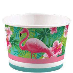 Flamingo tubs - Flamingo ice cream tubs - Hen party decorations - Birthday decorations - Party decorations - Party tableware - 8 pack