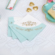 Vintage mint and gold napkins - Paper napkins - Hen party napkins - Birthday napkins - Party decorations - Party tableware - 16 napkins