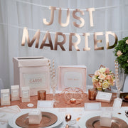 Rose gold Just Married bunting - Wedding bunting - Rose gold bunting -Rose gold wedding decor-Wedding decorations-Top table banner-Geo blush