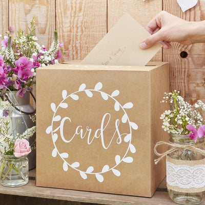 Kraft wedding card box - Rustic wedding card box - Wedding post box - Rustic country themed wedding - Wedding accessories - Wedding decor
