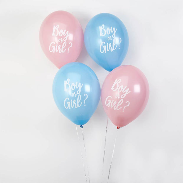 Gender reveal balloon kit - Boy or girl - Giant gender reveal balloon - Confetti ballon - Gender reveal party - Baby shower balloon