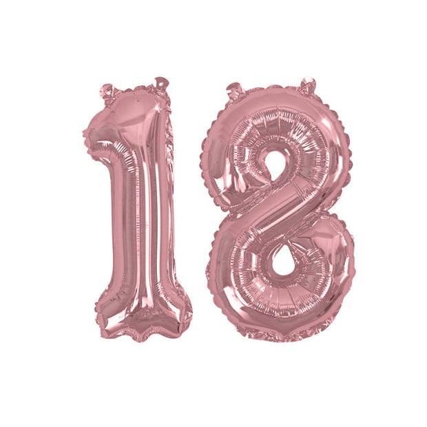 "Rose gold number 18 balloon - 16"" rose gold foil 18 balloon - 18th birthday balloon - Birthday balloon - Party decorations-Air fill balloons"
