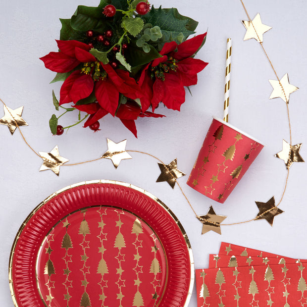 Gold foiled star garland - Christmas gold star garland - Christmas decorations - Gold star bunting - Christmas decor - Party decorations