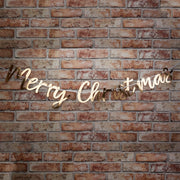Merry Christmas bunting - Gold foiled Christmas bunting - Gold foiled Merry Christmas - Christmas decorations - Christmas party decor