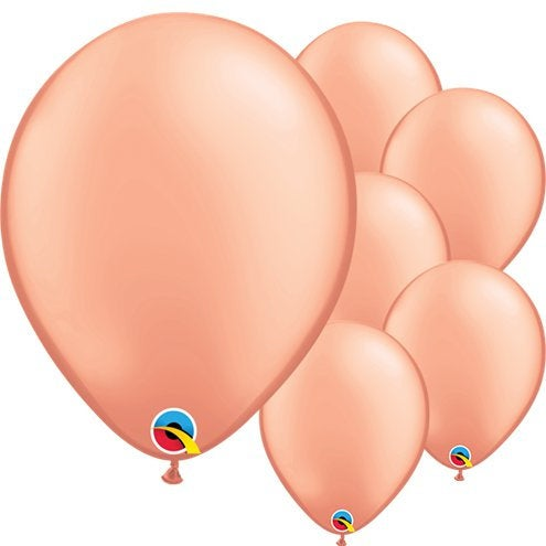 "Rose gold 11"" round latex balloons"