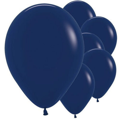"Navy blue 12"" round latex balloons"