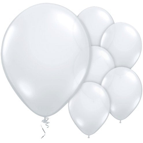 "Diamond Clear 11"" Round Latex Party Balloons"