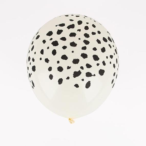 "Cheetah Print Safari Animal 11"" Round Latex Party Balloons, Pack of 5"