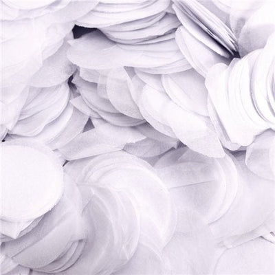 White tissue paper round circle balloon confetti pieces