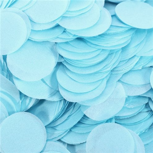 Baby blue tissue paper round circle balloon confetti pieces