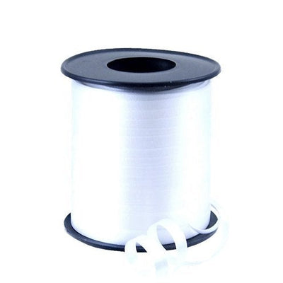 White Curling Balloon and Gift Wrap Ribbon, 91m