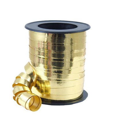 Gold Metallic Curling Balloon and Gift Wrap Ribbon, 46m