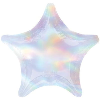 "Iridescent Star Shaped 18"" Foil Helium Balloon"