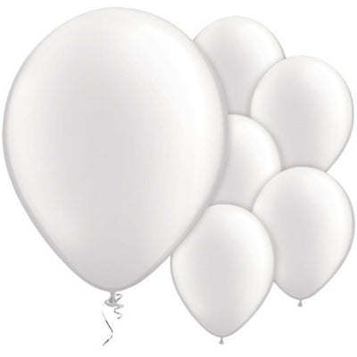 "Pearl White 11"" Round Latex Balloons"