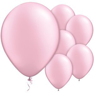 "Pink pearl 11"" round latex balloons"