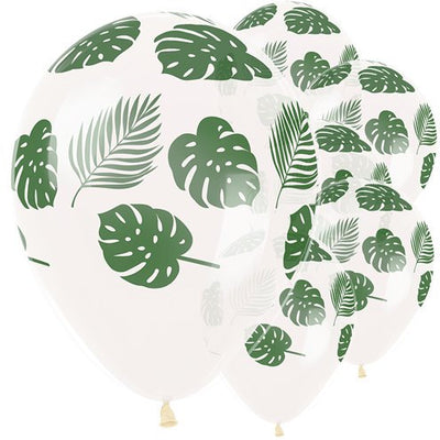 "Tropical Leaves 12"" round latex balloons"