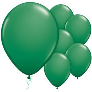"Green 11"" Round Latex Balloons"
