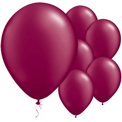 "Burgundy Pearl 11"" Round Latex Balloons"