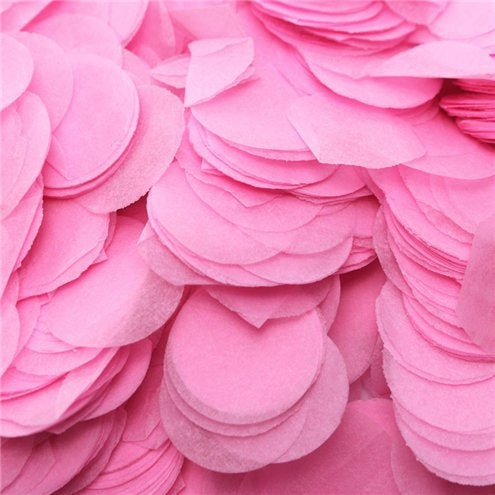 Baby pink tissue paper round circle balloon confetti pieces