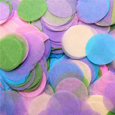 Pastel colours tissue paper round circle balloon confetti pieces