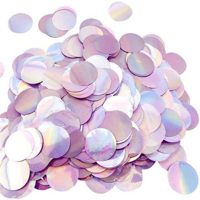 Iridescent foil round circle balloon confetti pieces